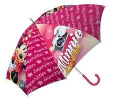 """Rosa per bambini """"Minnie Mouse Superstar"""" Ombrello Bambini Ombrello Pioggia Scuola"""