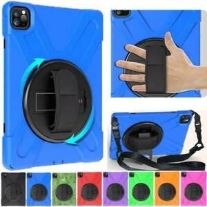"""360° Rotate Heavy Duty Stand Case Cover w Strap For iPad Pro 11"""" 12.9"""" inch 2020"""