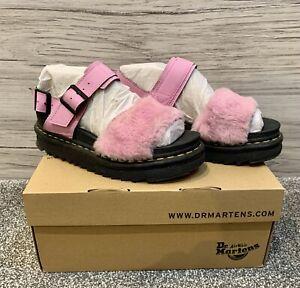 Dr. Martens Voss Fluffy Sandals Pink size UK 4 EU 37 US 5 M US 6 L