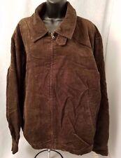St. John's Bay NWT Men's Brown Corduroy Club Zipper Front Lined Jacket Size XXL