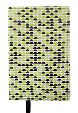 New Fabric Standard Paperback Book Cover - Lime Green, Black & Gray Print