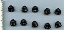 LEGO x 10 Black Minifig, Headgear Helmet Castle with Cheek Troll 60751