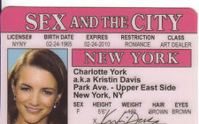 Charlotte York  Sex and the City plastic collector card Drivers License