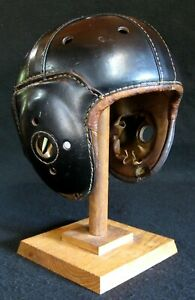 KILLER Old Antique 1930's RAWLINGS Leather Football Helmet Vintage DA BEARS