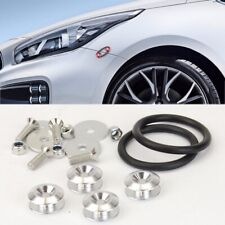 Silver Aluminum Quick Release Fasteners Kits For Chevy Front Rear Bumper Fender