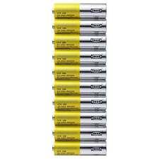 Pack x10 Ikea ALKALISK AA Battery alkaline, LR6 AA 1.5V  Battery