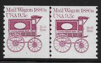 US Scott #1903, Plate #1 Line Pair 1981 Mail Wagon 9.3c FVF MNH