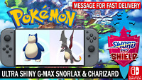 Pokemon Sword & Shield 6IV Snorlax & Charizard Ultra Shiny Gigantamax!!