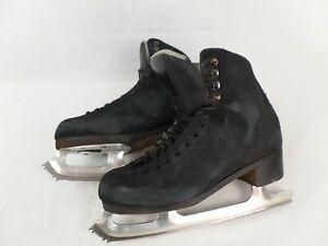 Graf 500 Ice skates 8 1/2 L Paramount blade, Black, Leather,