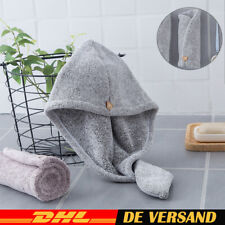 2x Schnelltrocknend Haar Trocknendes Turban Haartrockentuch Handtuch Kopftuch DE