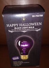 Happy Halloween Black Light Party Light Bulbs 120 Volts 75 W set of four