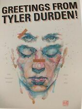 NEW Tyler Durden Fight Club 2 Comic Con Exclusive Postcard Promo CHUCK PALAHNIUK