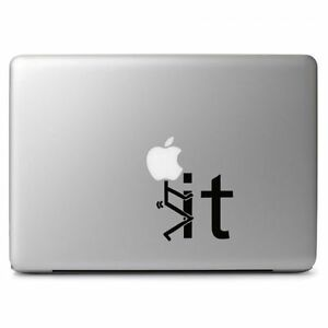 "Stick Man F-it for Macbook Air Pro 11 12 13 15 17"" Laptop Vinyl Decal Sticker"