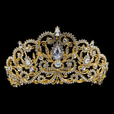 Austrian Crystal Royal Crown Tiara Bridal Wedding Hair Jewelry Headpiece JHA8382