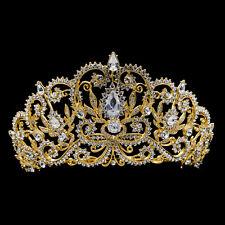 Austrian Crystal Royal Crown Tiara Bridal Wedding Hair Jewelry Headpiece JHA8382