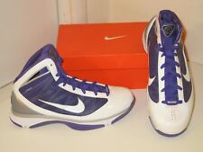 Nike Hyperize Flywire Basketball White & Purple Sneakers Shoes Womens 12.5