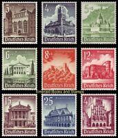 EBS Germany 1940 Winter Charity: Buildings - Bauwerke - Mi. 751-759 MNH** cv $63