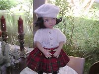 """NO DOLL  SWEATER  SKIRT TAM  FOR 13"""" LITTLE DARLING BY DIANNA EFFNER  DARLING!"""