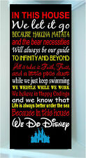 Wooden 10x24 sign w vinyl quote We Do Disney famous movie quot MULTICOLOR Styl 1