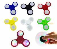 Light Up LED Fidget Hand Spinner Toy Anxiety Stress Reliever Focus EDC ADHD New