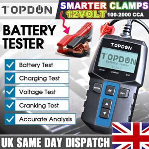 TOPDON BT100 Car Battery Tester Analyzer Cranking Charging Test 12V CCA100~2000