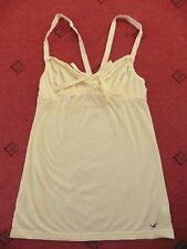 Ladies Hollister Yellow Strappy Racer back Summer Top, Size S