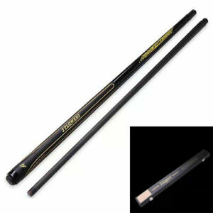 "J.Flowers Carbon fiber 57"" Billiard Pool Cue Stick+ J.F  Wooden Buckle Case"