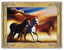 Zeitgenössische künstlerische Malereien mit Pferde-Motiv-Thema