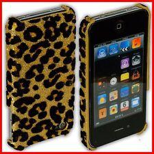 iPhone 4S / 4 Rückschale Leoparden-Muster Case Tasche Hülle Schale S Phone gold