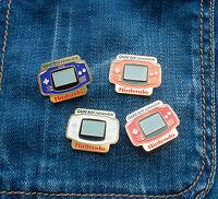 Pin Badge Nintendo Game Boy Advance Metal New Gameboy