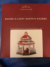 Hallmark 2020 Sound-a-light Santa's Gazebo Tabletop Decoration Lights and Sound