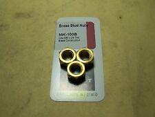 """MANIFOLD STUD NUTS - BRASS STUD NUTS - LOW 3/8"""" x 24 THREAD"""