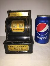 VINTAGE UNCLE SAM'S DIME BANK. DURABLE TOY & NOVELTY CO. USA