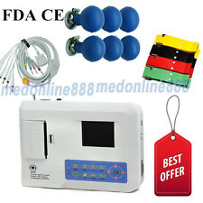 US Seller Digital 3 Channel 12 lead ECG/EKG machine Electrocardiograph+ software