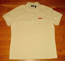 eSolar Solar Power Alt Energy IZOD Polo Women's Large, Beige Silk Wash NWT