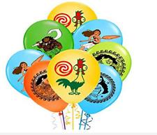 10 PCS 12``Moana Maui Latex Balloons Vaiana Birthday Party Balloons