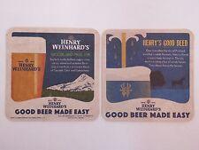 Beer Coaster: HENRY WEINHARD'S Woodland Pass IPA ~ Beer Fountain Good Deed Offer