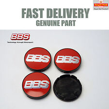 4x Genuine BBS Centre Caps Red and Silver 2D 56mm LM RX CH SR XA 10017110 NEW