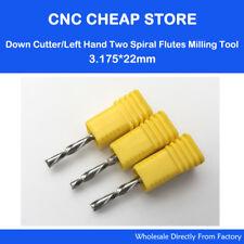 "1//8/"" Diameter 1 Flute Carbide Router for Aluminum 1//4/""LOC Melin USA Part #12857"