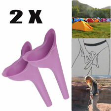 2 Pcs Portable Female Women Urinal Toilet Funnel Camping Travel Stand Pee Device