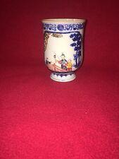Antique 19th Century Chinese Export Porcelain Tankard Mug Bridge Scene