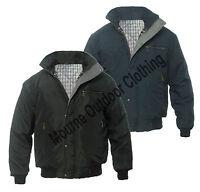 New Mens Sky Diver Bomber Winter Padded Work Jacket - Coat