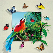 Parrots Butterflies Lenticular 3D Picture Animal Poster Painting Wall Art Decor