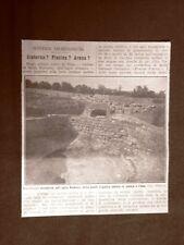 Scavi di Vejo nel 1913 Costruzione dissepolta Isola Farnese nell'Agro romano