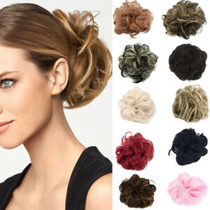 Curly Messy Hair Bun Piece Updo Scrunchie Fake Natural Bobble Hair Extensions ED