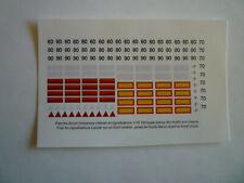 Decalcomanies limitation de vitesse et signalisation arrière camion 1/50 1/43