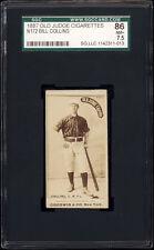 1887 N172 Old Judge Bill Collins (New York, leaning on bat) SGC 86 Near Mint+