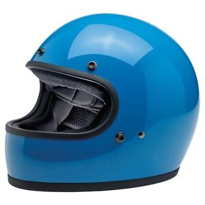 Gringo DOT/ECE Approved Full Face Helmet - Gloss Tahoe Blue
