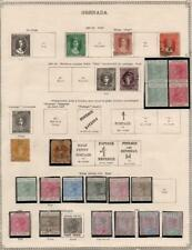 GRENADA: 1861-1895 Examples - Ex-Old Time Collection - Album Page (35301)