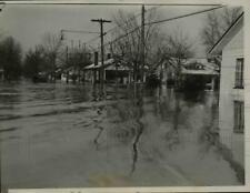 1937 Press Photo Street in Evansville Ind. evacuated in the race of Ohio Flood